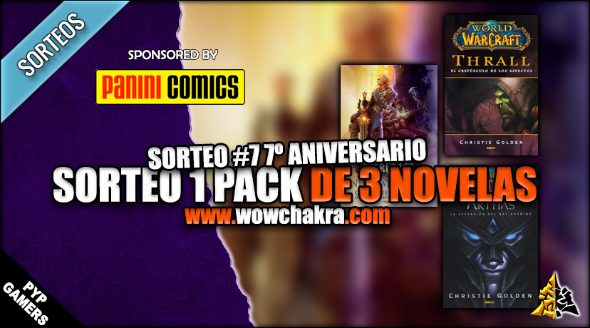 Sorteo 3x Novelas de World of Warcraft: Antes de la