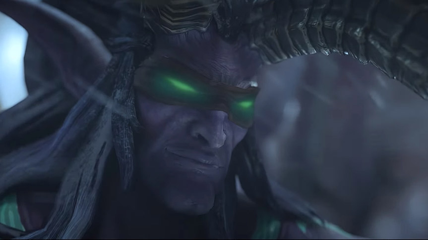 Cinematica De Lucha Entre Illidan Vs Arthas En Warcraft Iii