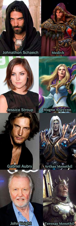 Propuesta de actores para personajes de World of Warcraft