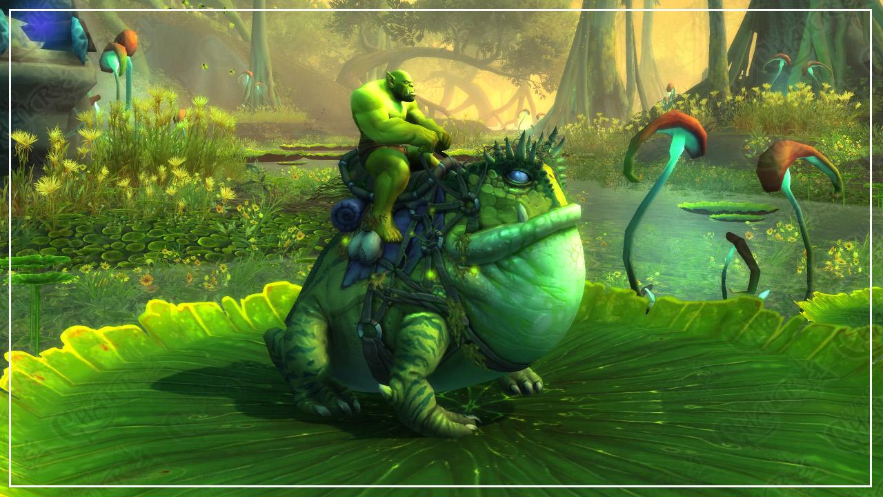 """Montura de Battle for Azeroth """"rana gigante"""" in-game"""