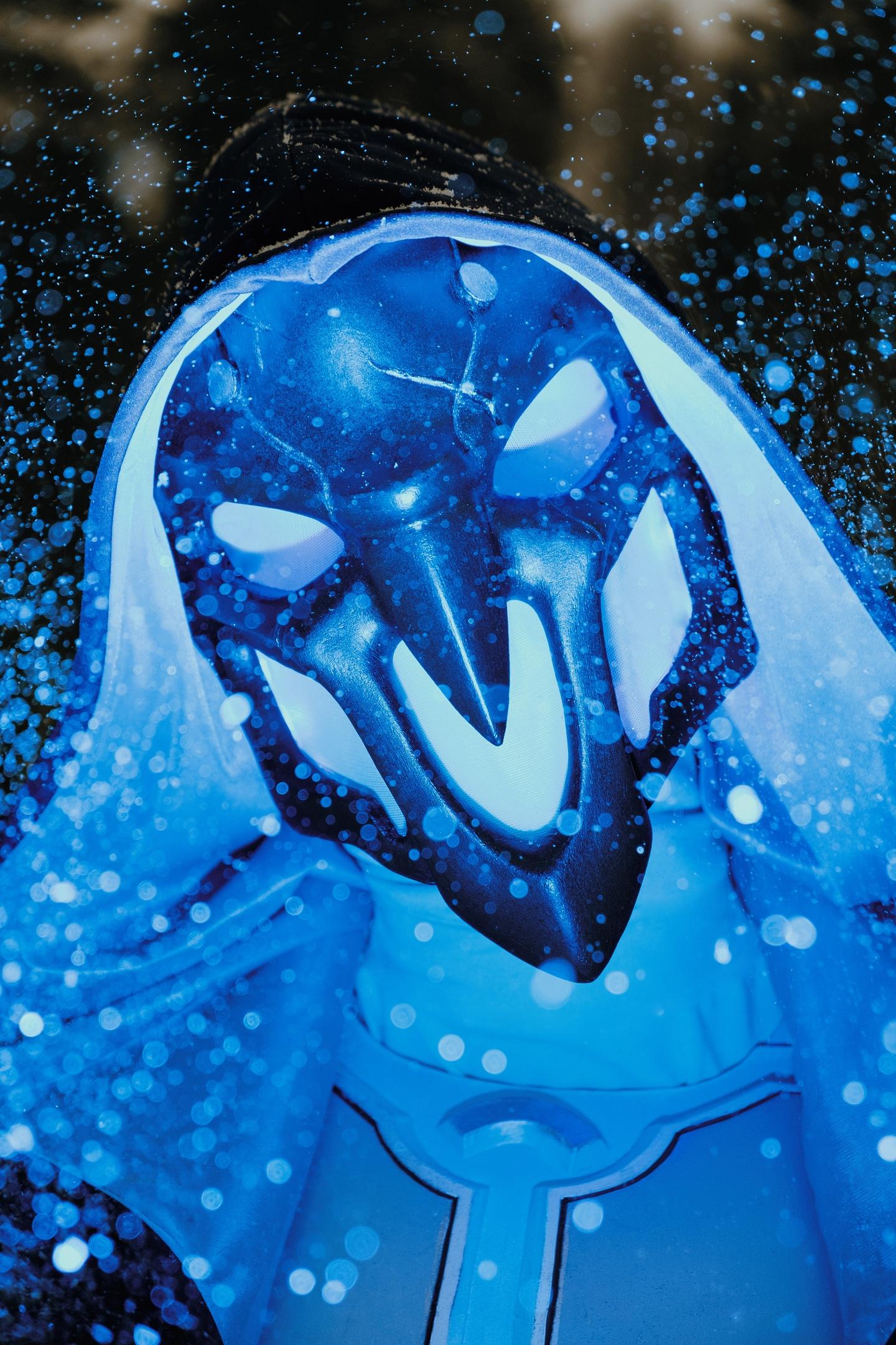 Cosplay de Reaper con el aspecto Escalofrío