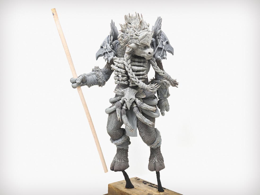 Escultura de Tauren Chamán hecha a mano