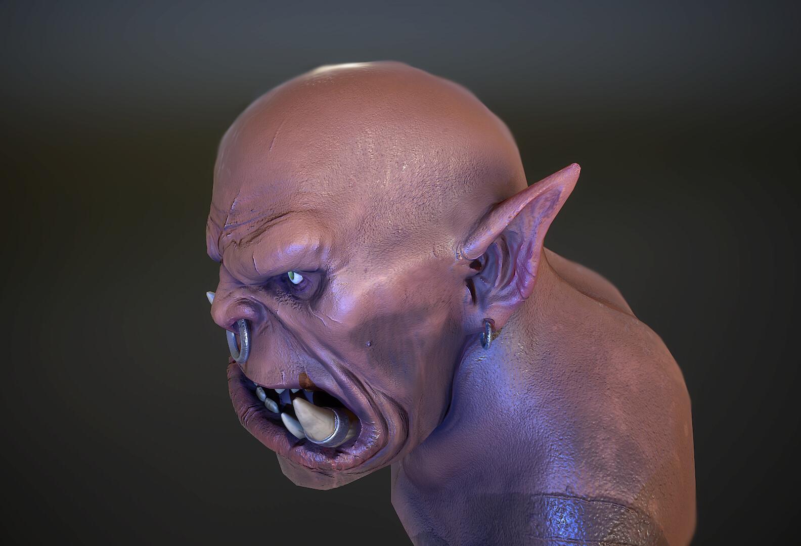 Fan art del busto de Garrosh realizado en 3D