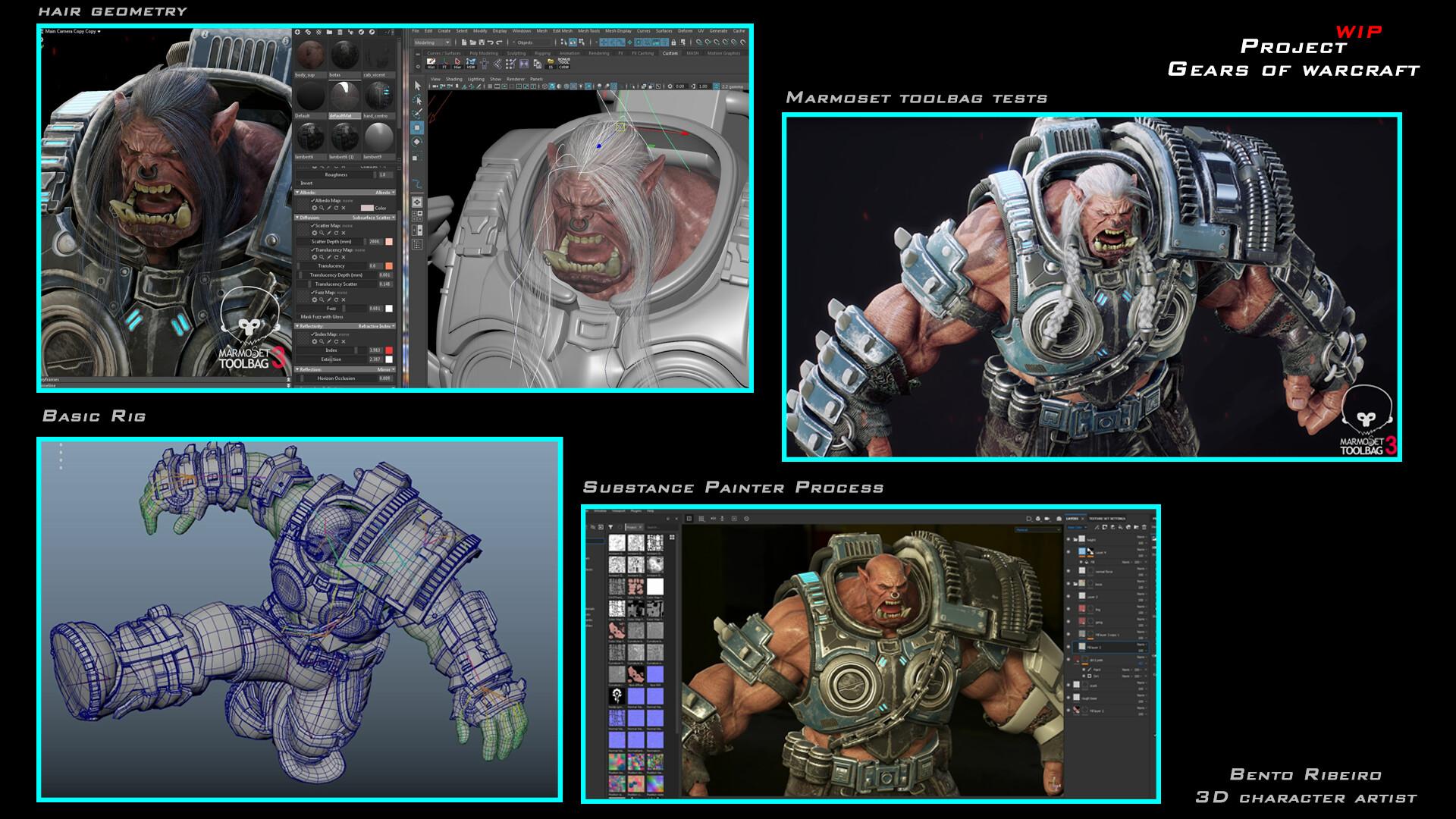 Gears of Warcraft recreación Fan Art por Bento Ribeiro