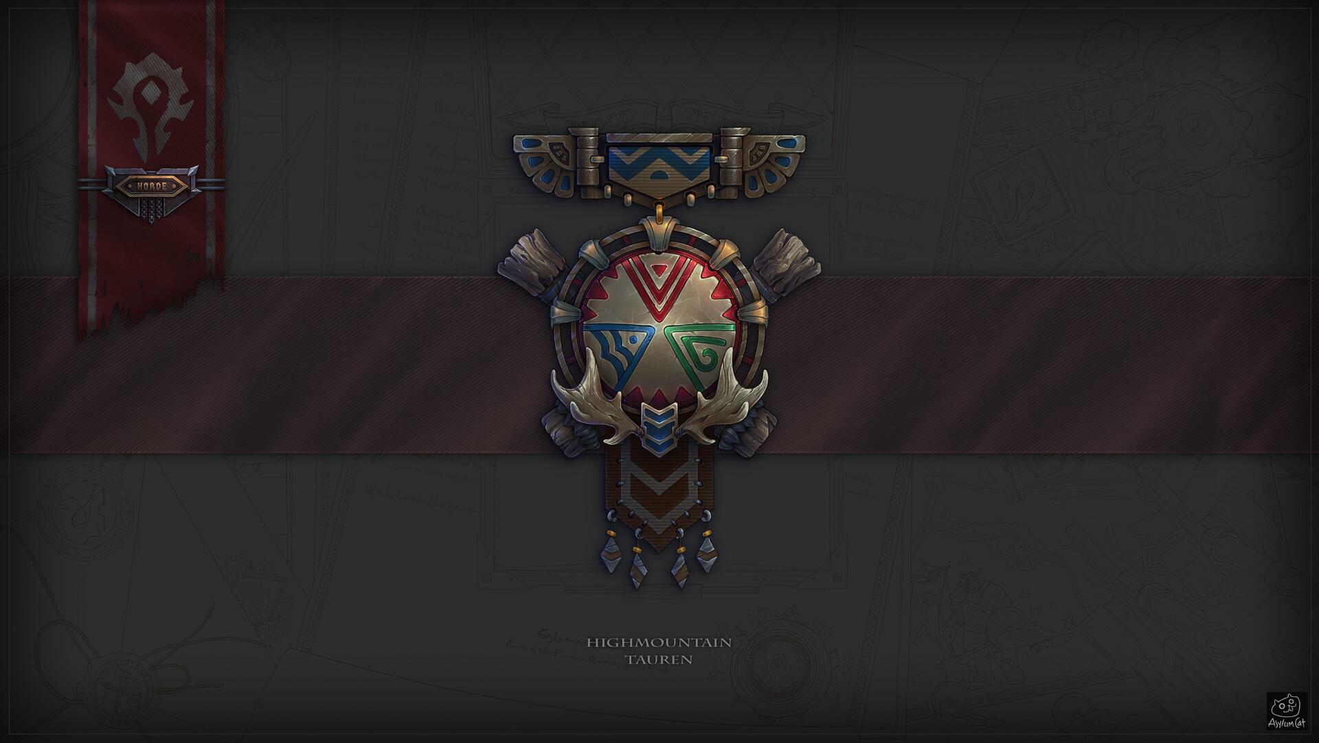 Fan Art de Medallas de Facción y Razas de World of Warcraft