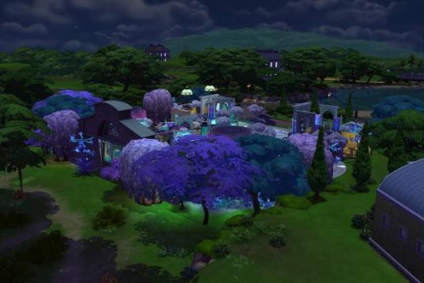 Suramar recreada por SatiSim en los Sims 4